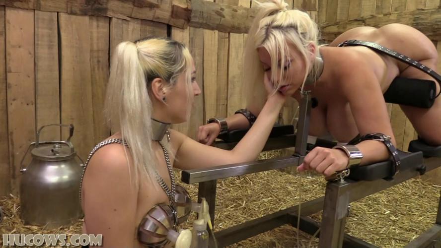BDSM Liz milks Blondie