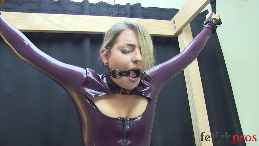 BDSM Latex Missy Latex Dress Belt Bound on Sybian