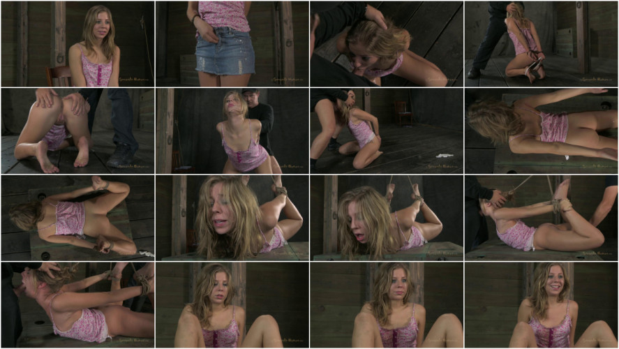 BDSM Sexy little Chastity Lynn is bound, brutally skull fucked
