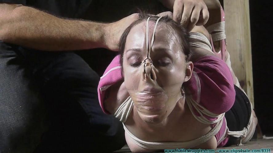 BDSM Lil miss natalie hogtied part 3