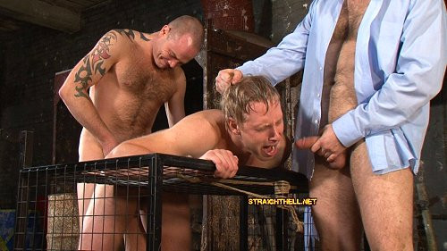 Gay BDSM Deep and long fuck