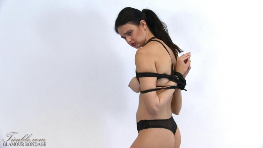 BDSM Yasmine reverse prayer in black