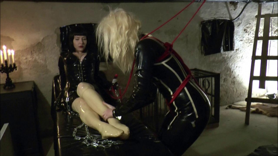 BDSM Latex Chapter Roped