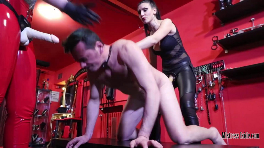 Femdom and Strapon Mistress Iside - Double Strap-On Penetration