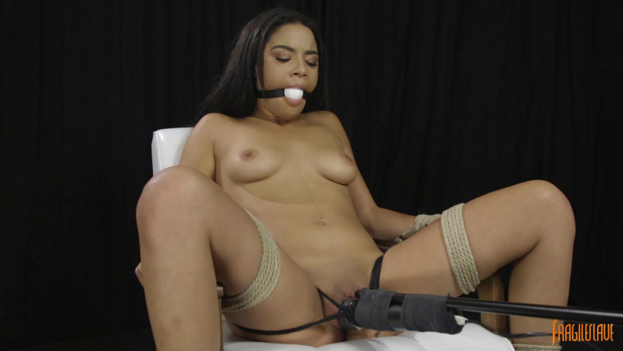 BDSM Chair Tied with Orgasm