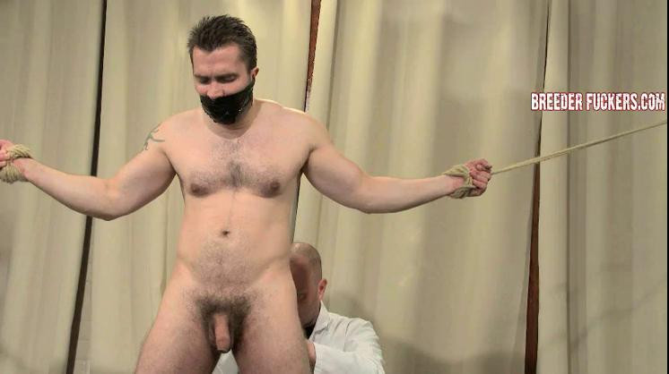 Gay BDSM Bryce - Tied, gagged, fucked with a dildo