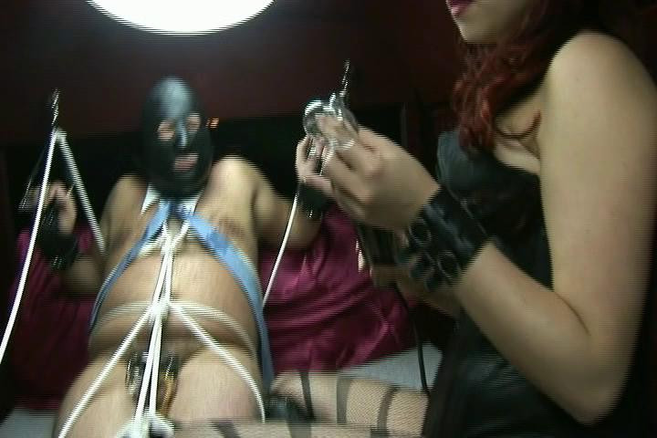 Femdom and Strapon  Tied In the Back