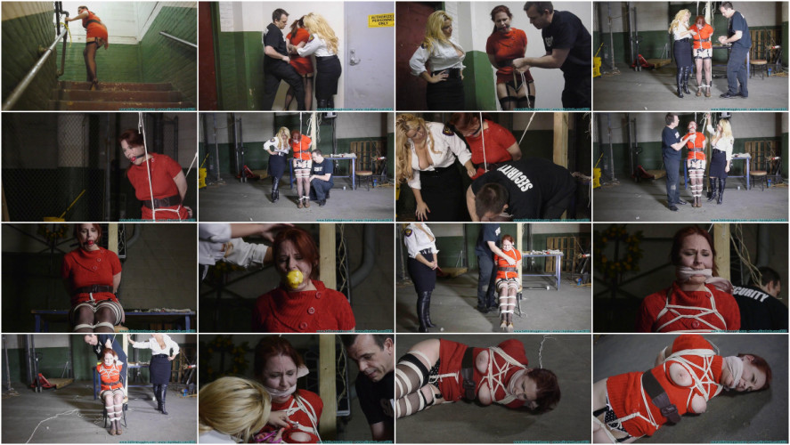 BDSM The Security Guards Hogtied and Gagged me, then Posed