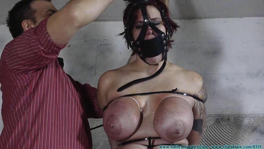 BDSM Jolie zip tied part 1 -  HD 720p