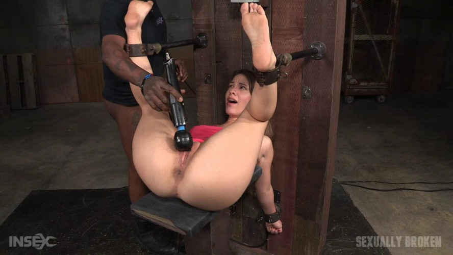 BDSM Bounded and fucked by huge cock & fucking machine