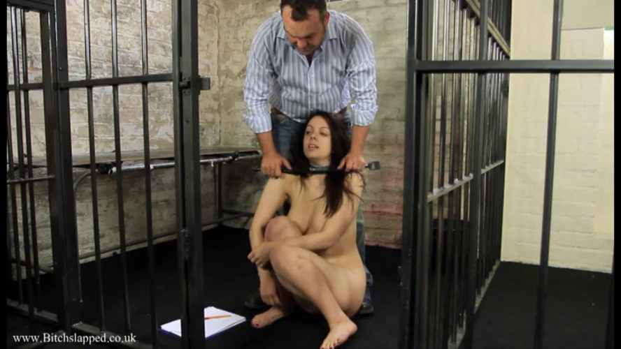 BDSM Tight bondage, domination and spanking for naked brunette part 1 HD 1080
