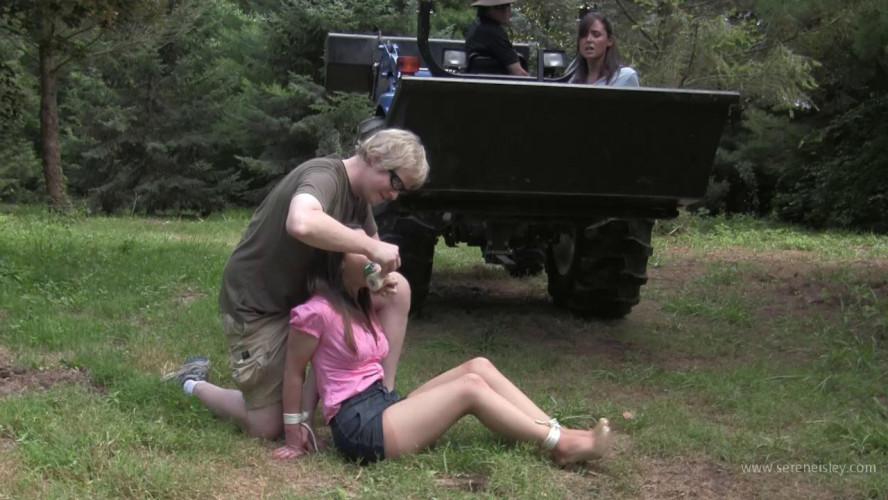 BDSM Christina & Serene - Outdoor Bondage Delivery