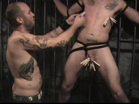 Gay BDSM Roped Stripped