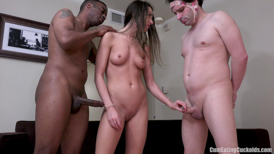 Femdom and Strapon Tight Pink Thick Meat Cuckolding