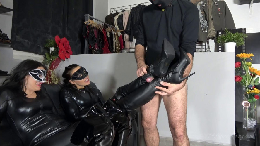 Femdom and Strapon Mistress Gaia Orgasmic Leather