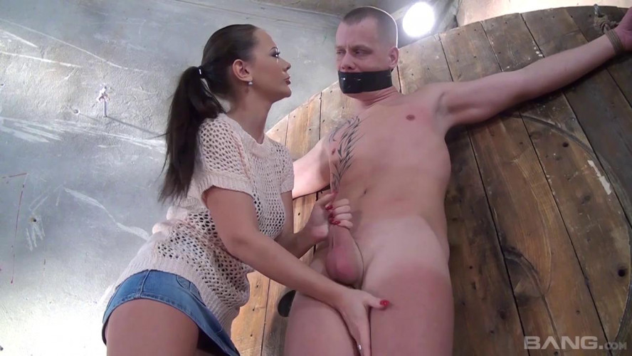 Femdom and Strapon Wanked and Humiliated