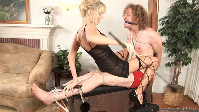 Femdom and Strapon Disciplined Mibs