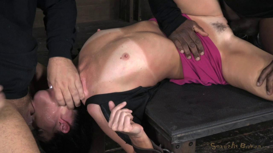 BDSM India Summer takes on 2 guys, Extreem deepthroating