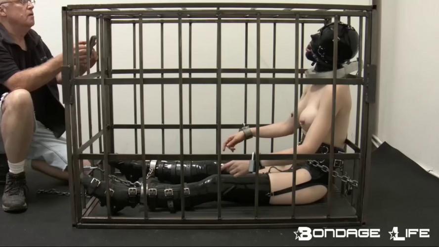 BDSM BondageLife - Rachel Greyhound - Some Heavy Cage Time