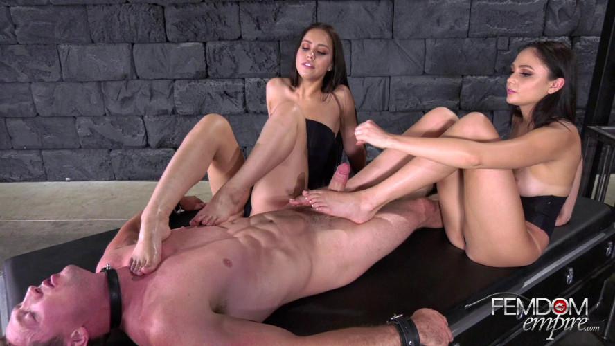 Femdom and Strapon Ariana Marie, Alina Lopez Double Foot Sex (2019)