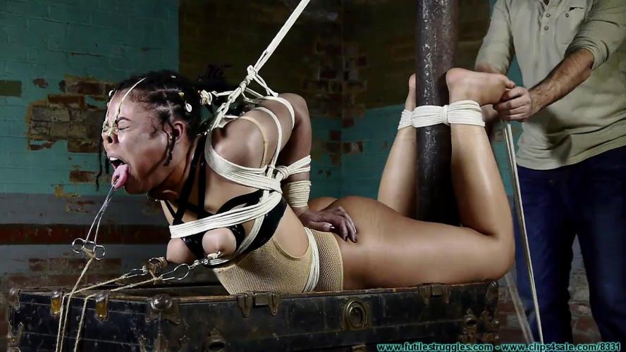BDSM A Mesh Leotard Post Hogtie for Purple Jade - Part 4