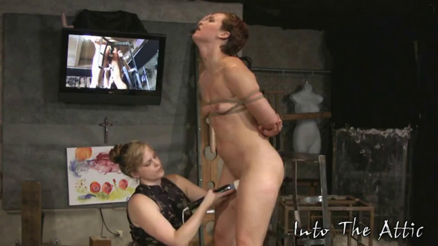 BDSM Tight bondage, spanking and torture for naked slavegirl part 2 Full HD1080p