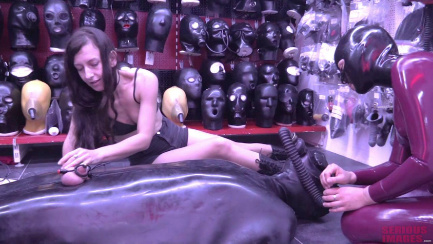 Femdom and Strapon Heavy Rubber Torment At Studio Gum