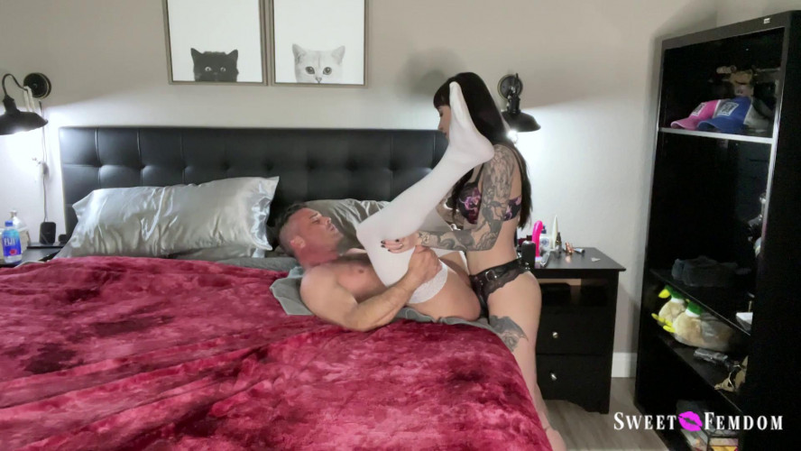 Femdom and Strapon Charlotte Pegs Lance and Tenderizes His Meat!