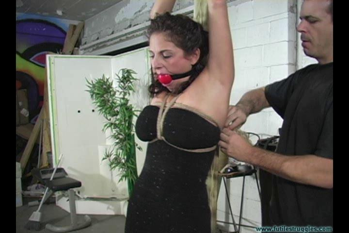 BDSM Lola Lynn Cheating Wife is Punished with Tight Crotchrope and Clamps vol. 1