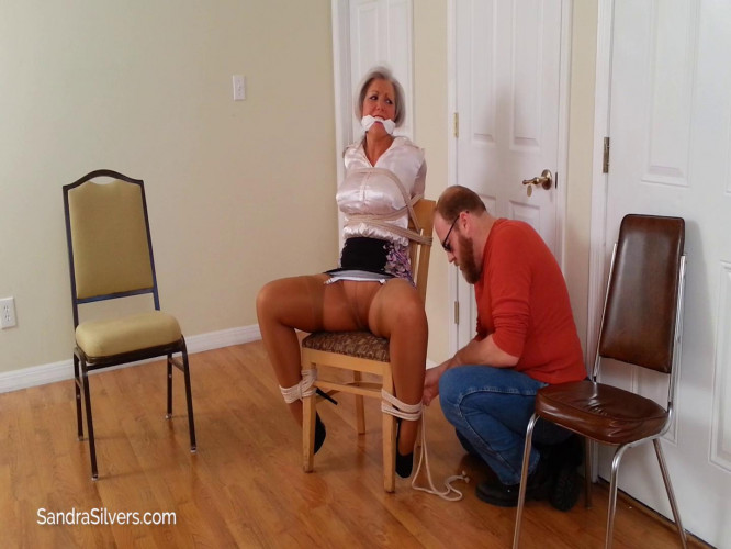 BDSM 3 Beautiful Buxom Broads Burgled and Bound On Screen! Part 1