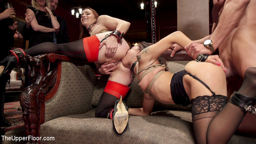 BDSM Tiny 18 Year Old Anal Slave Double Stuffed