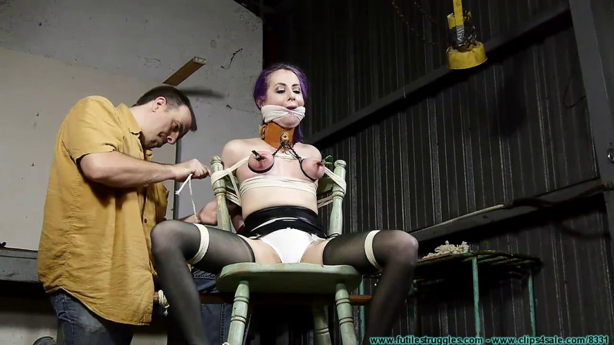 BDSM Super bondage, torture and spanking for very sexy girl Full HD