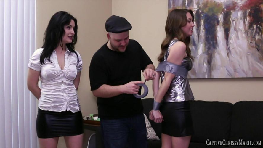 BDSM Chrissyand Tillys Tough Tape Escape