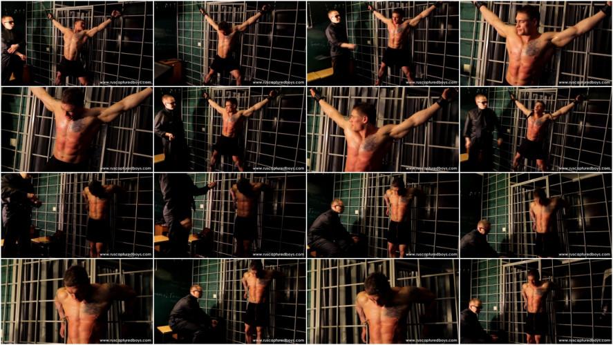 Gay BDSM RusCapturedBoys - Bodybuilder Vasily in Jail - Part II