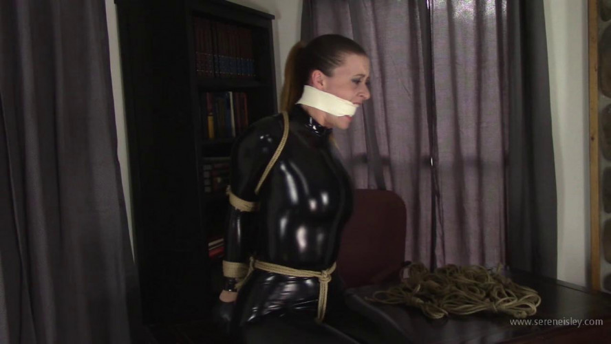 BDSM Latex Serene Isley - Bound in Her Catsuit, and Cleave Tape Gagged