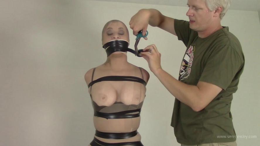 BDSM Serene Isley - Tightly Banded Electrical Tape Nylon Encasement