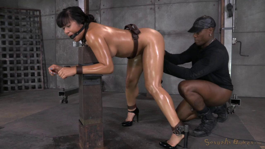 BDSM Hot Filipina Mia Li is Bound, Oiled, Brutally Face Fucked