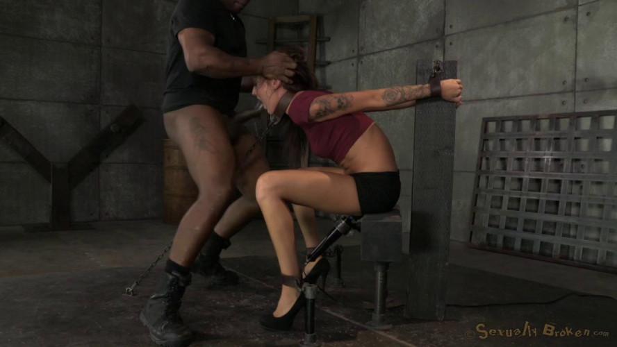 BDSM Brunette newbie Kendra Cole