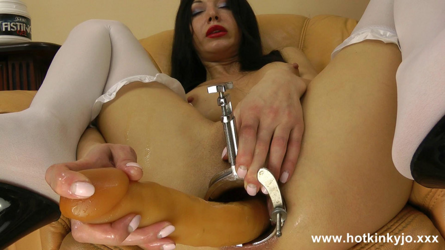 Fisting and Dildo Long dildo full in open with xo speculum ass (2016)