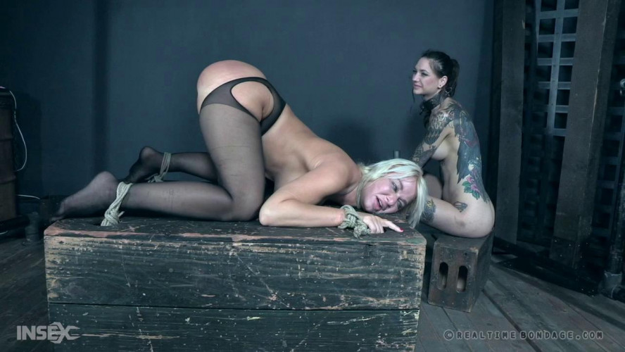BDSM Rough Bondage For London River & Rocky Emerson