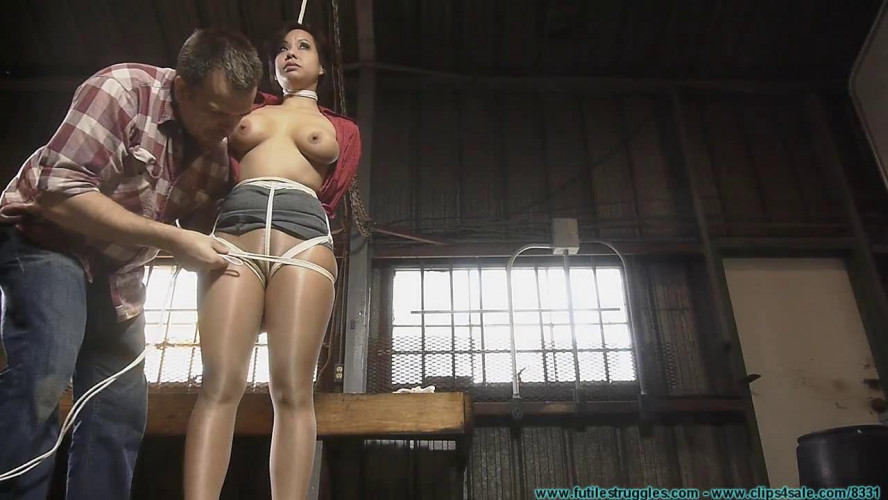 BDSM Kimmy Lee Hogtied in the New Studio vol. 1