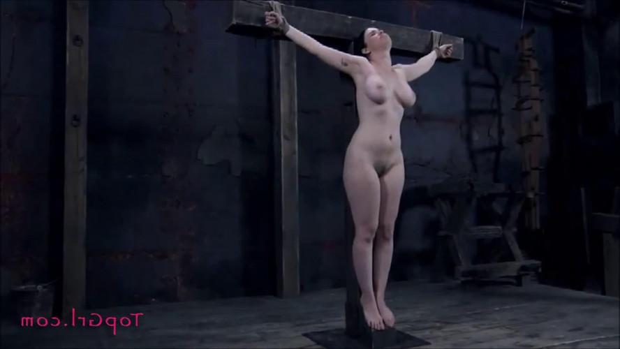 BDSM Hard bondage, spanking and torture for beautiful brunette part 2