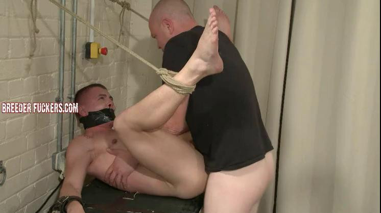Gay BDSM Austin - Suit shredded, gagged, sphincter stretched