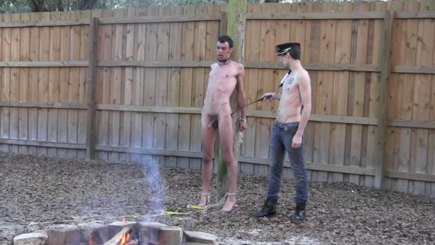 Gay BDSM Tied Down Part 3