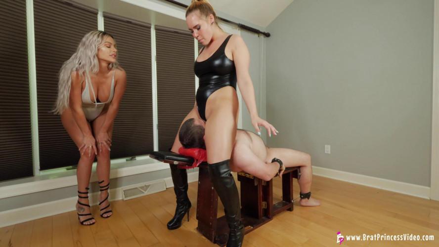 Femdom and Strapon Goddess Becky, Princess Natalya - Smother Their Slave FullHD 1080p