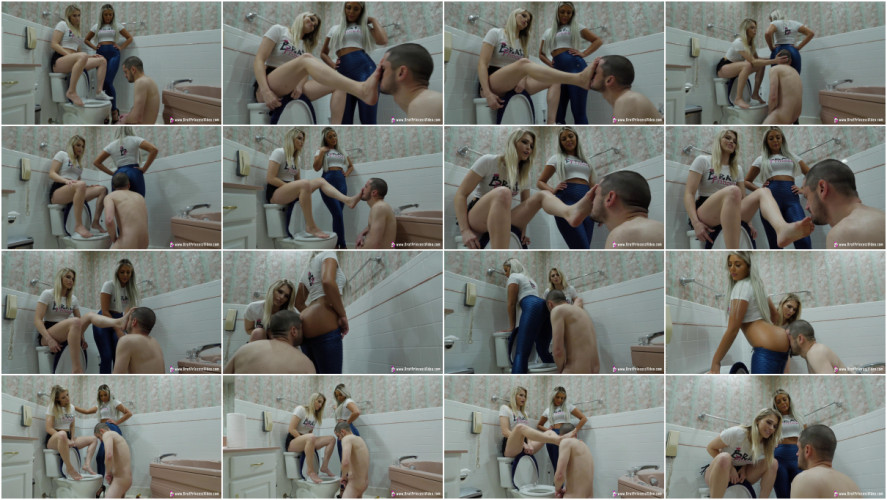 Femdom and Strapon Princess Amber and Ava Extreme Beta Toilet Humiliation
