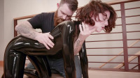 Bondage, Domination And Spanking For Very Hawt Gal In Latex