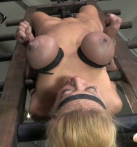 Blond Bimbo Inverted With Automatic Cocksucking Machine