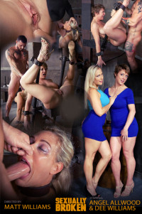 SexuallyBroken – Aug 19, 2016 – Angel And Dee Tied Back To Back And For Mouth Orgasms