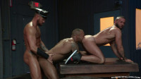 Rough Muscle Studs In Threesome Fuck